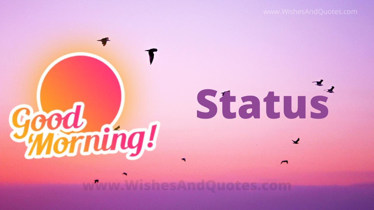 Happy Good Morning Status